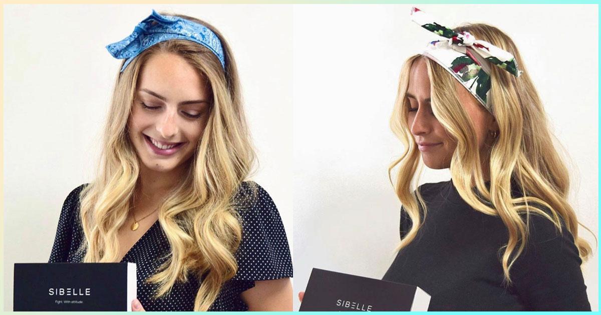 Perte des cheveux due au cancer - des foulards portés par 2 mannequins